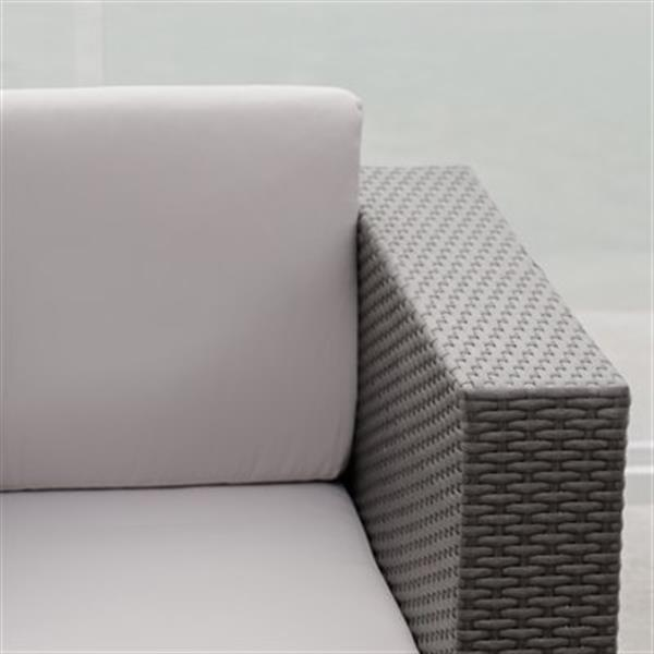 Puerta Outdoor Wicker Furniture Set - 4 Pieces - Grey