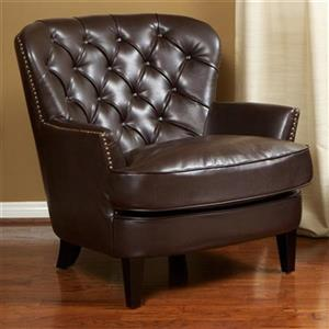 Best Selling Home Decor Tafton Tufted Bonded Leather Club Ch