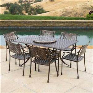 Best Selling Home Decor Vista 7-Piece Outdoor Dining Set wit