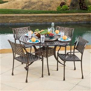 Best Selling Home Decor Vista 5-Piece Outdoor Dining Set wit