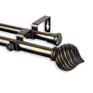 Rod Desyne Bisque Double Curtain Rod,4793-994