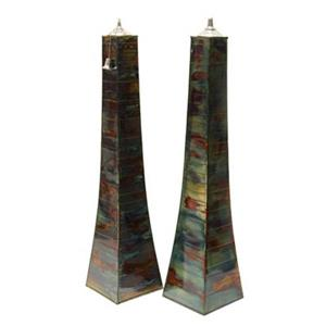 Outdoor Interiors 50300AST DecoraFlame Large Pyramid Torch (