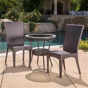 Best Selling Home Decor Josh 3-Piece Outdoor Bistro Set,2956