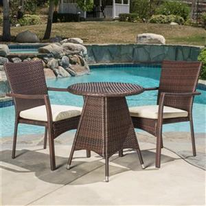Best Selling Home Decor Georgina 3-Piece Outdoor Dining Set,