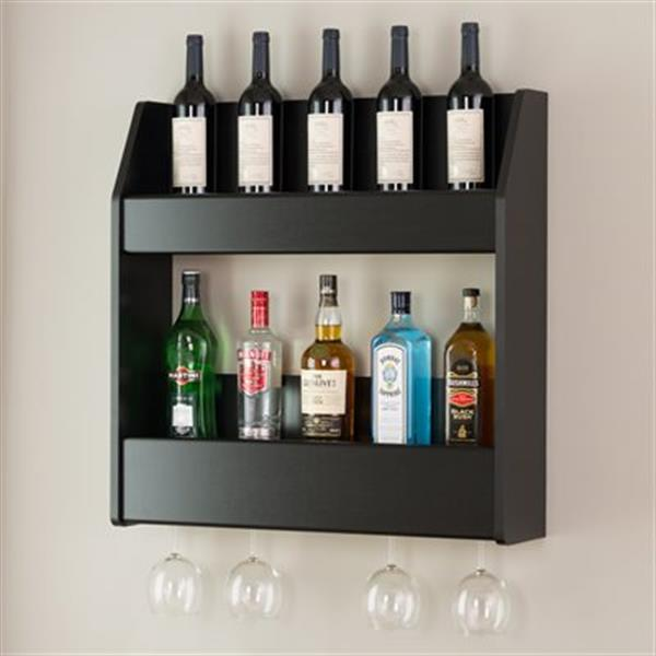 Prepac Furniture Floating Wine and Liquor Rack,BSOW-0202-1