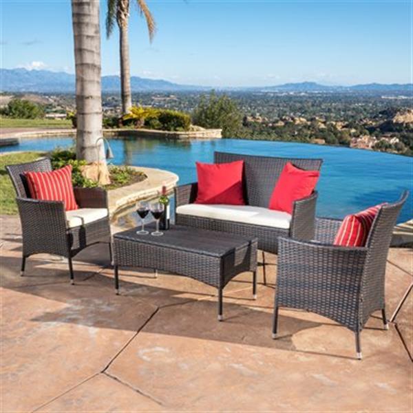 Best Selling Home Decor Mason 4-Piece Outdoor Set,296168
