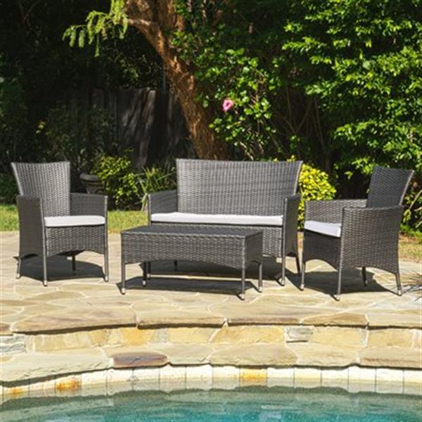 Best Selling Home Decor Mason 4-Piece Outdoor Set,296169