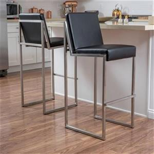 Best Selling Home Decor Vossa Bonded Leather Barstool (Set o