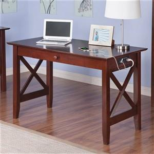 Atlantic Furniture Newcastle Desk with Charging Station,AH12
