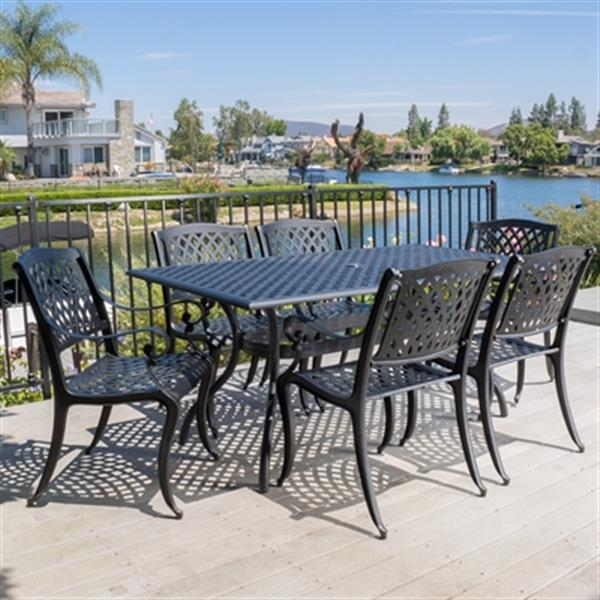 Best Selling Home Decor Cayman 7-Piece Outdoor Dining Set,29