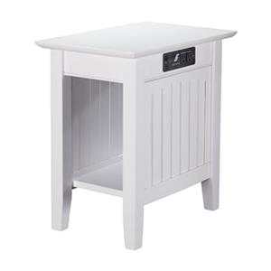 Atlantic Furniture Nantucket Chair Side Table with Charger,A