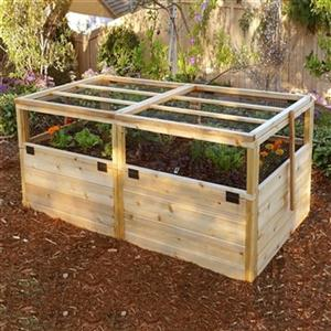 Outdoor Living Today RB63WLT 6-ft x 3-ft Raised Garden Bed w