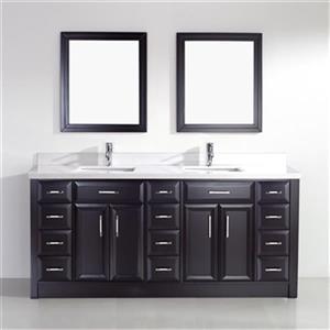 Spa Bathe Calumet 75-in Bathroom Vanity,CA75Esp-SSC