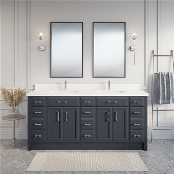 Spa Bathe Calumet 75-in Bathroom Vanity,CA75FG-SSC