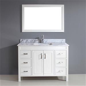 Spa Bathe Cora 48-in Bathroom Vanity,CO48Wht-CWM