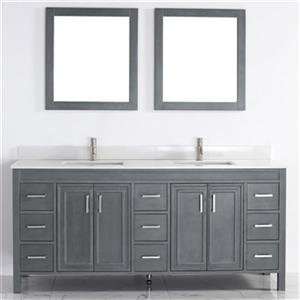 Spa Bathe Cora 75-in Bathroom Vanity,CO75FG-SSC