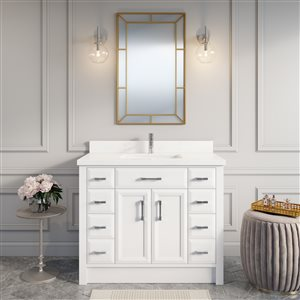 "Calumet Vanity with Sink - 42""- White"