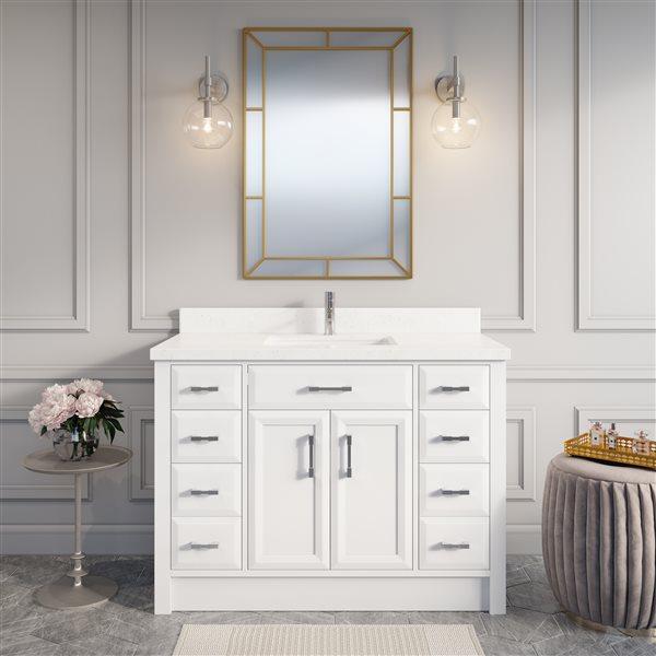 Meuble-lavabo avec dessus de comptoir Calumet, 48