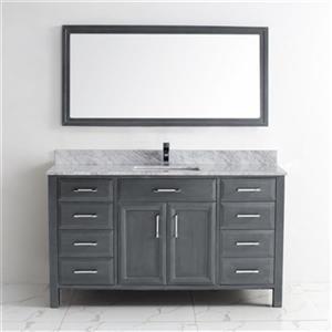 Meuble-lavabo Calumet avec dessus en marbre, 60