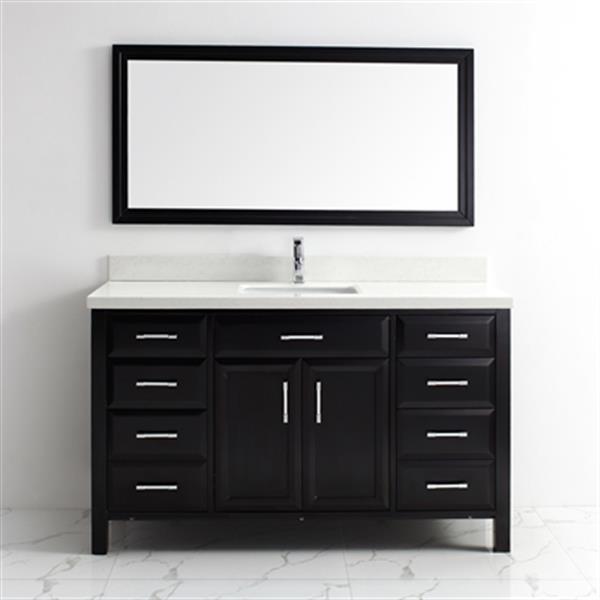 Spa Bathe Calumet Single Sink Vanity With Countertop 60 Black