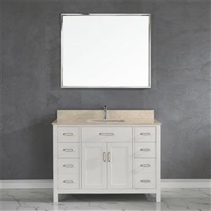 Spa Bathe Kenzie 48-in Single Sink Vanity,KZ48WHT-GBM