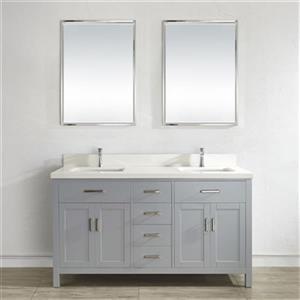 Spa Bathe Kenzie 63-in Double Sink Vanity,KZ63OG-WQ