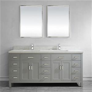 Meuble-lavabo Kenzie Spa Bathe, 2 lavabos, 75
