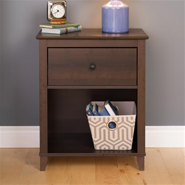 Prepac Furniture Yaletown Tall 1-Drawer Nightstand,EDNH-1201