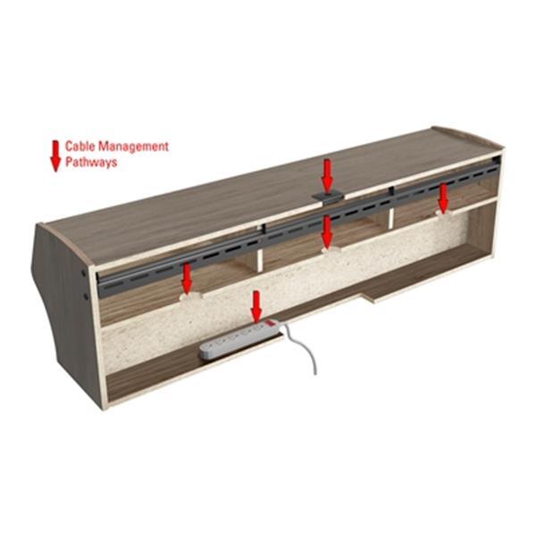 Prepac Furniture Altus Plus Wall-Mounted Audio/Video Console