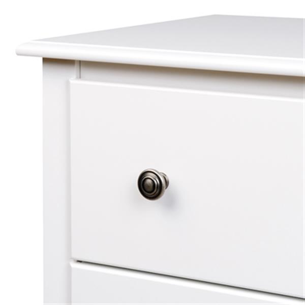 Prepac Furniture Monterey Tall 3-Drawer Nightstand,WDC-2403