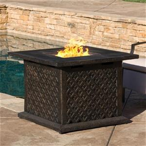Best Selling Home Decor Manila 33-in Square Propane Fire Pit