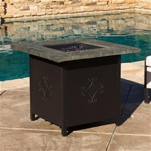 Best Selling Home Decor Tiburon 30-in Square Propane Fire Pi
