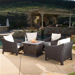 Best Selling Home Decor Antibes 5-piece Wicker Conversation