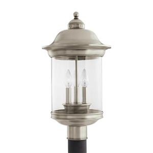 Sea Gull Lighting Hermitage 3-Light LED Outdoor Post Lantern