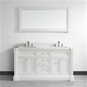Spa Bathe Avella 63-in Bathroom Vanity,AV63Wht-SSC