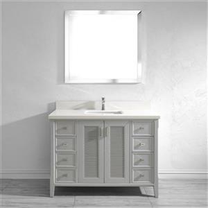 Spa Bathe Shutter 48-in Bathroom Vanity,SH48OG-WQ