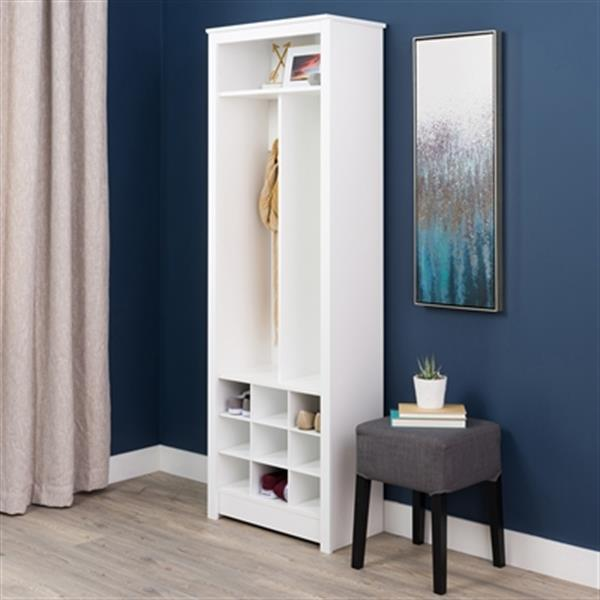 Prepac Furniture Space-Saving Entryway Organizer with Shoe S