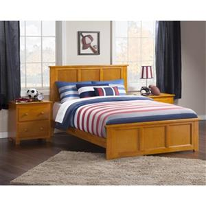 Atlantic Furniture Madison Full Traditional Bed with Matching Foot Board in Caramel