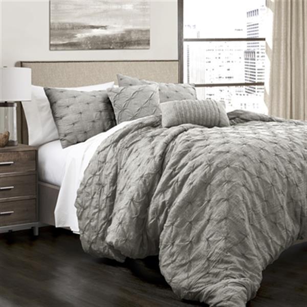 Lush Decor Ravello Pintuck 5-Piece Comforter Set,16T001139