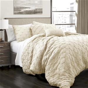 Lush Decor Ravello Pintuck 5-Piece Comforter Set,16T001142