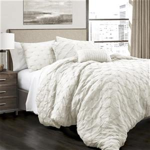Lush Decor Ravello Pintuck 5-Piece Comforter Set,16T001143