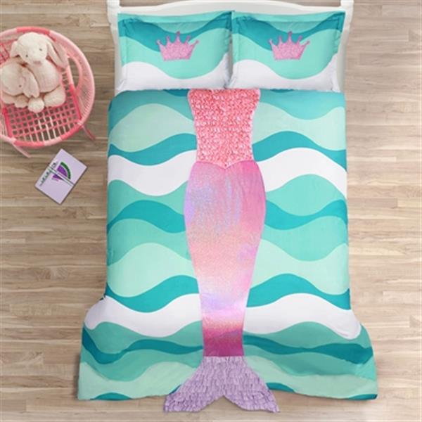 Lush Decor Mermaid Ruffle Comforter Set,16T001696