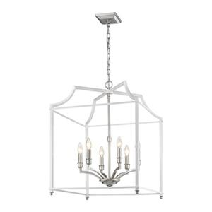 Golden Lighting 8401-6P Leighton 6-Light Pendant,8401-6P PW-