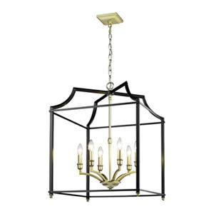 Golden Lighting 8401-6P Leighton 6-Light Pendant,8401-6P SB-