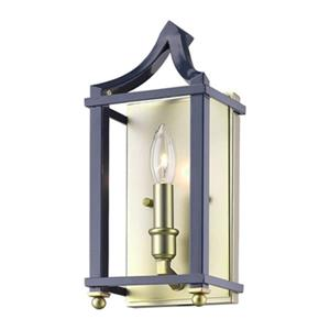 Golden Lighting 8401-WSC Leighton Wall Sconce,8401-WSC SB-NV