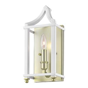 Golden Lighting 8401-WSC Leighton Wall Sconce,8401-WSC SB-WH
