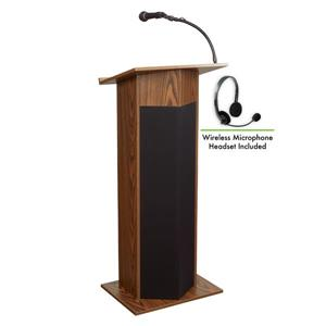 Oklahoma Sound Power Plus Lectern with Wireless Microphone,1