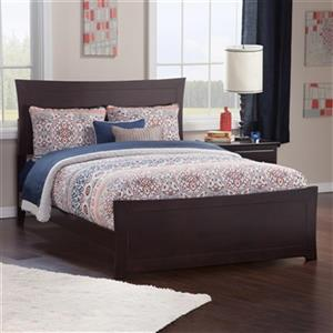 Atlantic Furniture Metro Full Traditional Bed with Matching Foot Board in Espresso