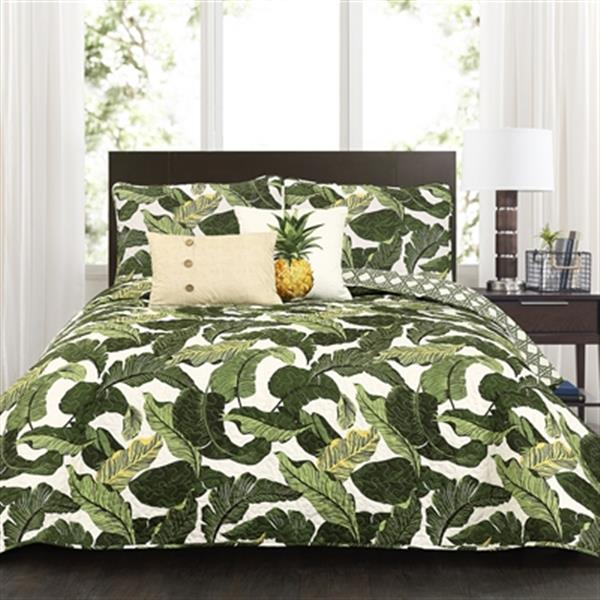 Lush Decor Tropical Paradise 5-Piece Quilt Set,16T002393