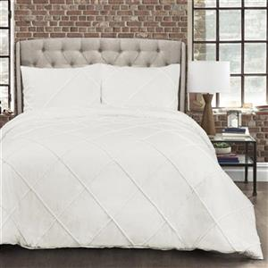 Lush Decor Diamond Pom Pom 3-Piece Comforter Set,16T002456